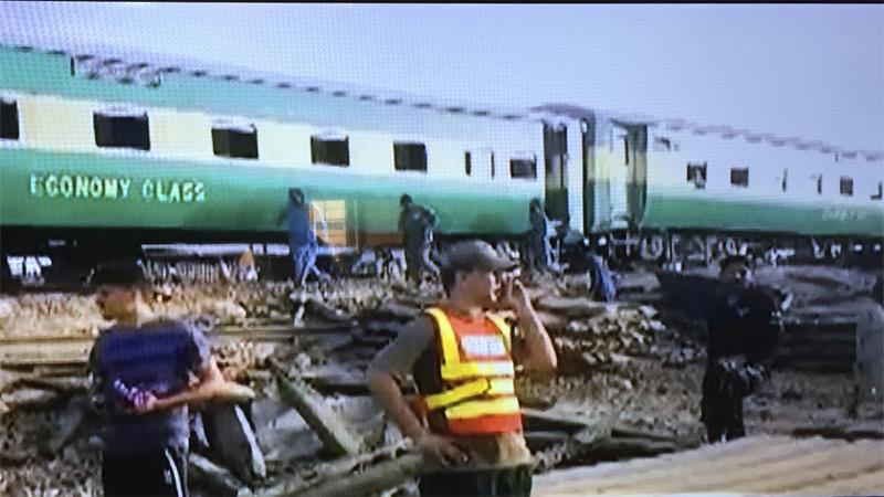 Passenger train hits freight train in Pakistan, killing 10