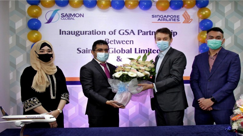 Saimon Global made GSA for Singapore Airlines in Bangladesh