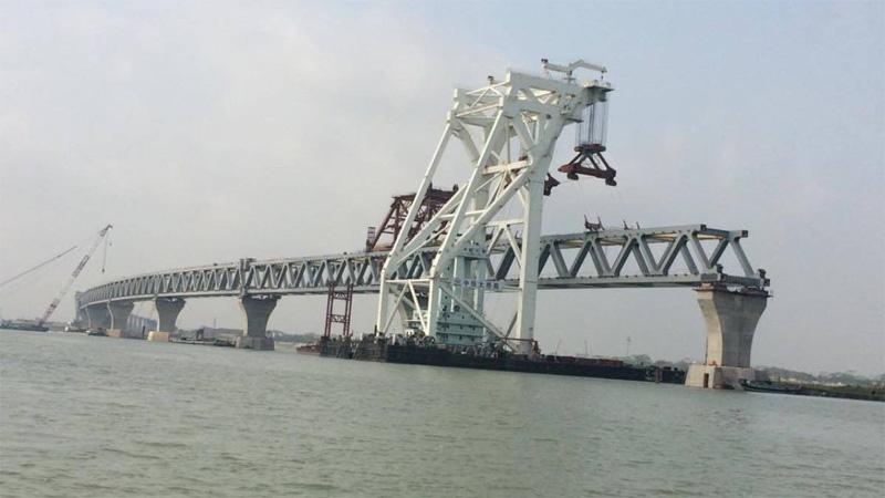 9th span of Padma  Bridge installed