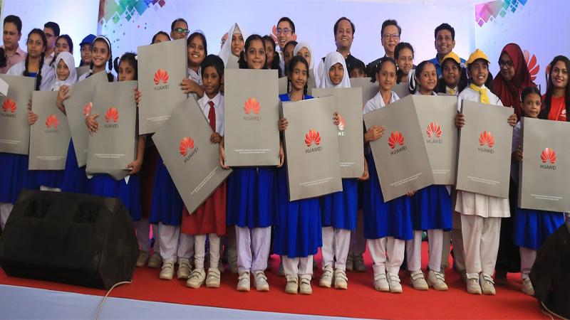 Huawei Bangladesh provides educational supplies to girls