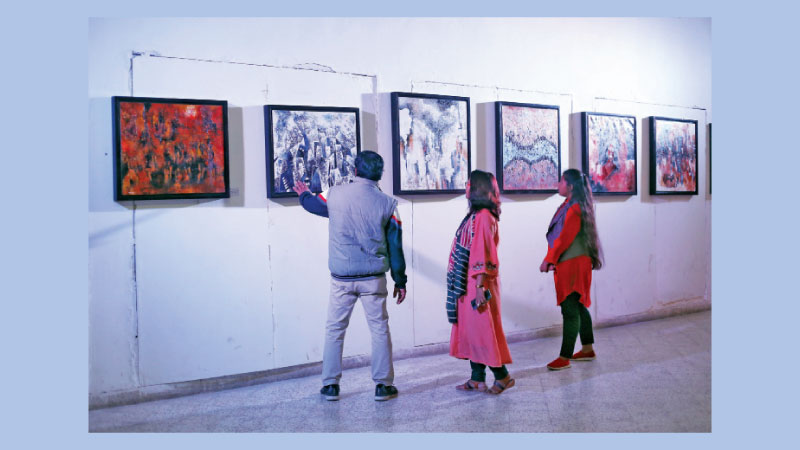 Abu Saleh Titu's third painting show underway at Nat'l Museum