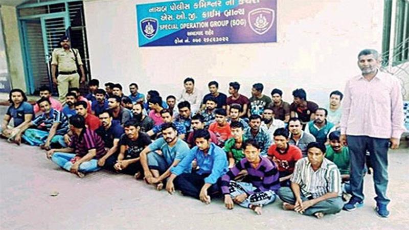 47 illegal Bangladeshi immigrants held in Ahmedabad, India