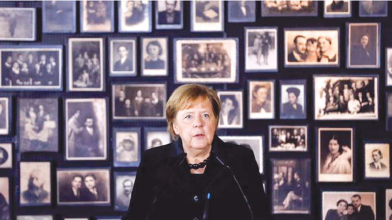 Angela Merkel's stance against anti-Semitism