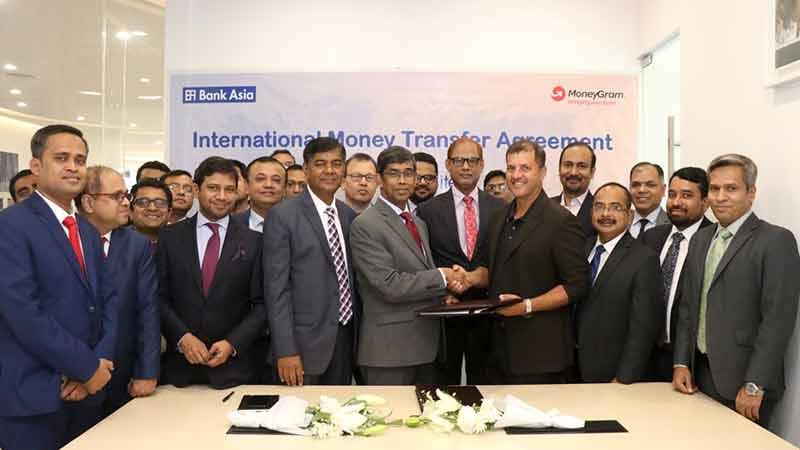 Bank Asia, MoneyGram sign money transfer agreement