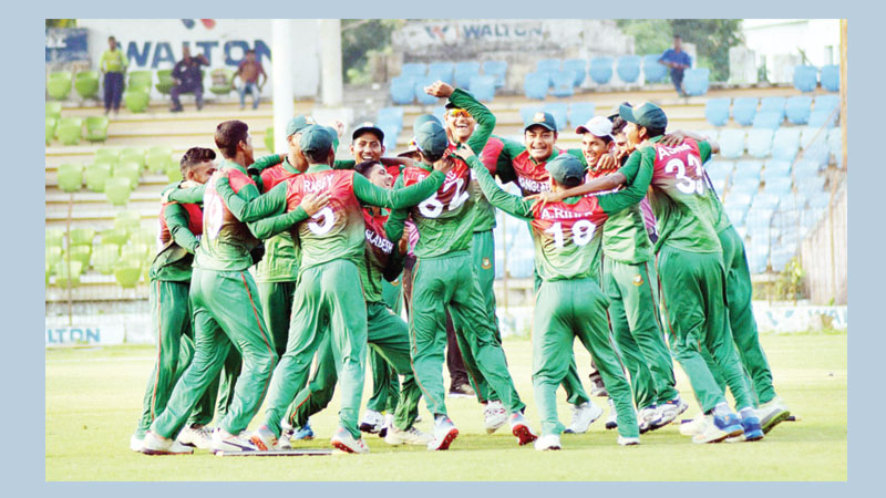 BCB U-16 win one-day  series against Pakistan