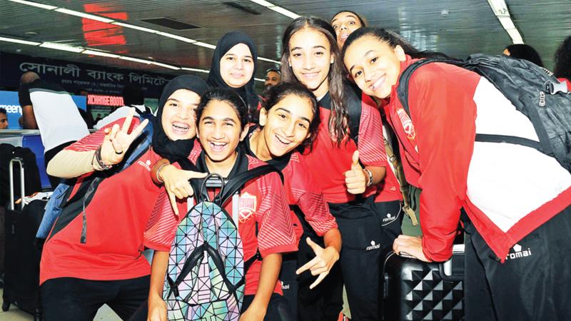 Bahrain team in city