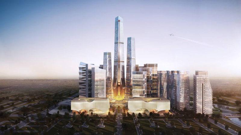 Construction of Bangabandhu Tri-Tower gathers momentum