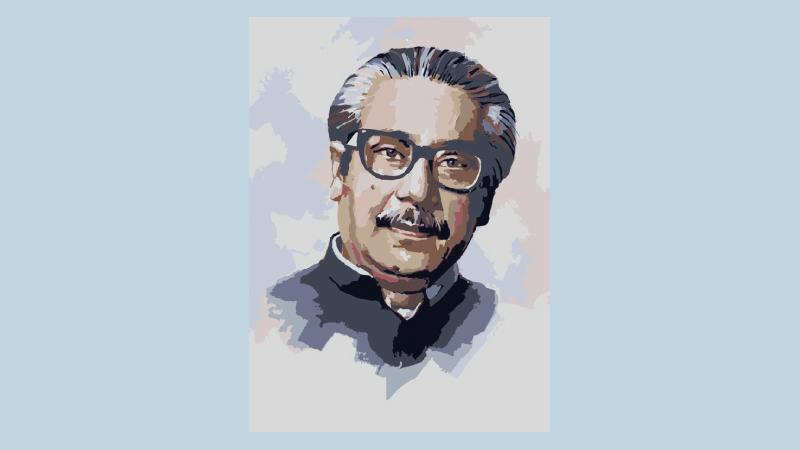 Largest ever portrait of Bangabandhu to be drawn