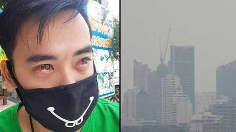 Bleeding noses and blood-red eyes as Bangkok battles toxic air