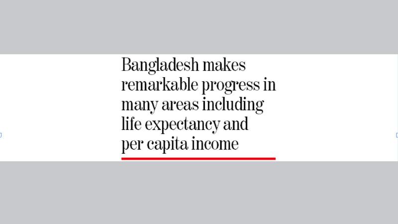 Bangladesh 3 notches up