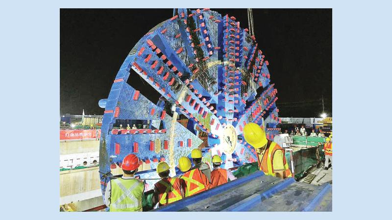 Bangladesh imports largest tunneling machine from China