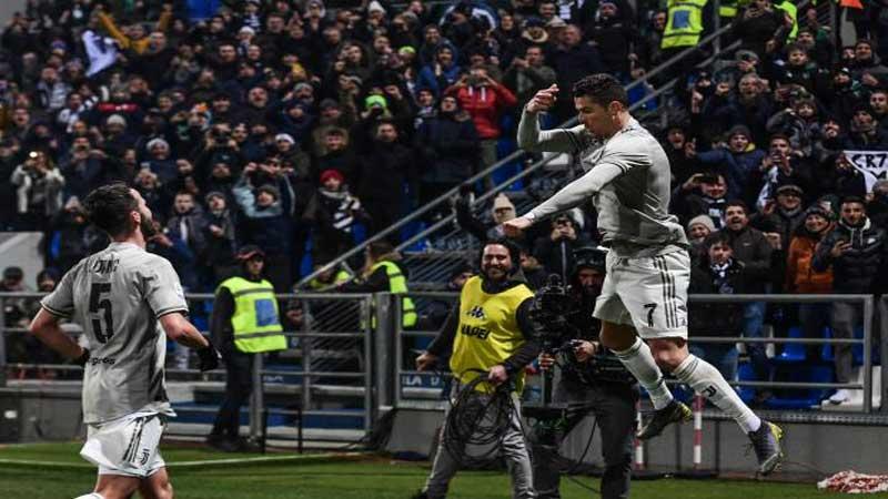 Ronaldo keeps scoring as Juventus soar 11 points clear