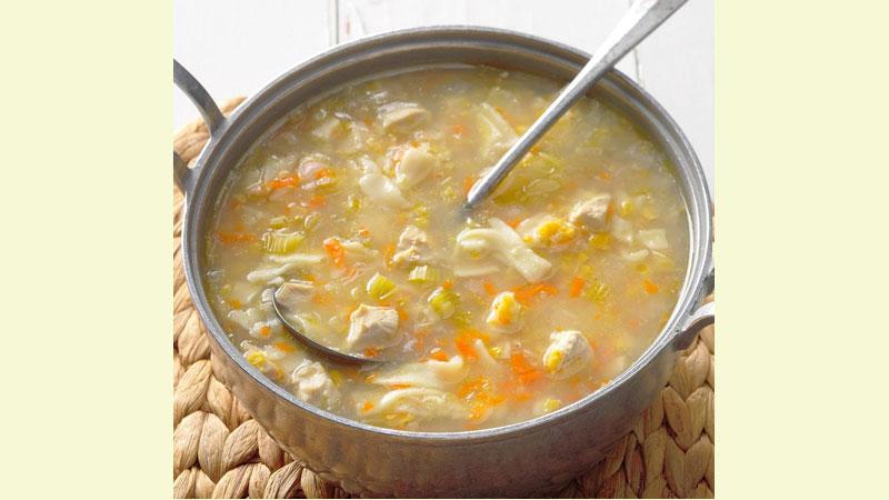 Chicken, corn soup recipe