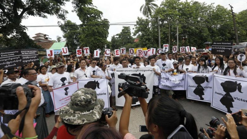 Toddler testifies in Myanmar 'nursery rape' case