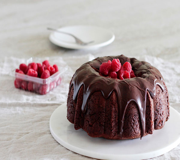 Chocolate Mocha-Kissed Bundt Cake