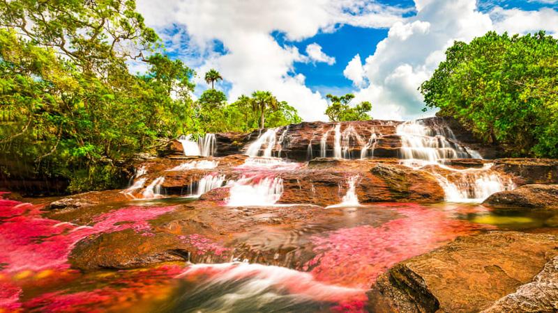 Where river transforms into a liquid rainbow
