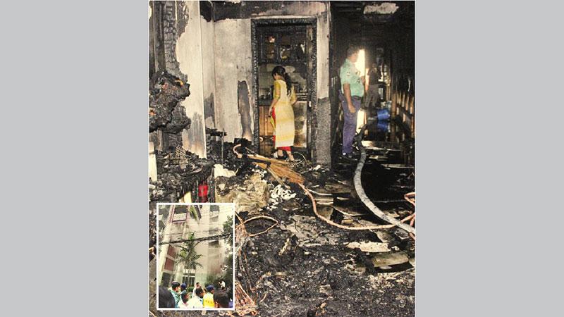 Woman dies in Dhanmondi apartment fire