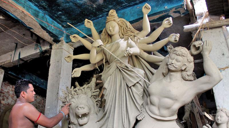 Preparations for Durga Puja progressing fast in Gaibandha