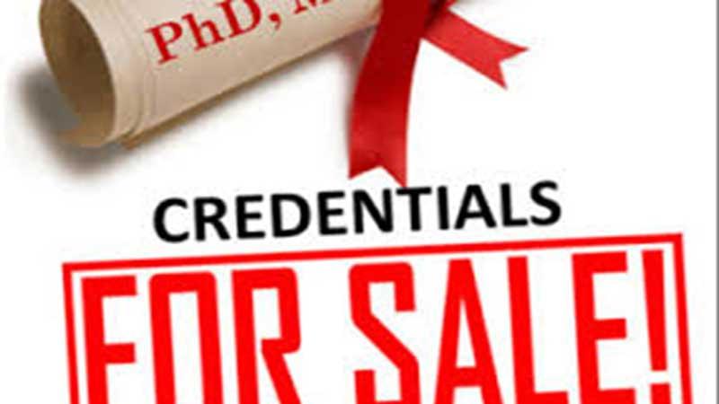 Fake PhD degrees exploiting education