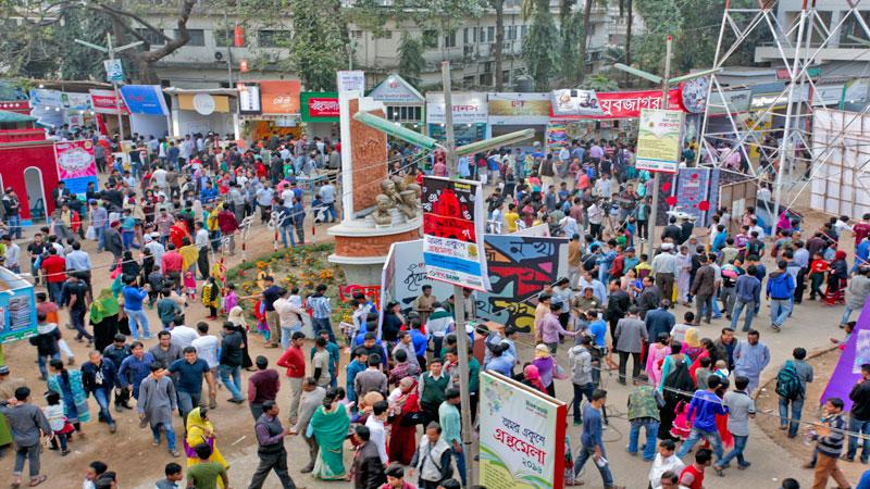 Ekushey Book Fair draws huge crowd