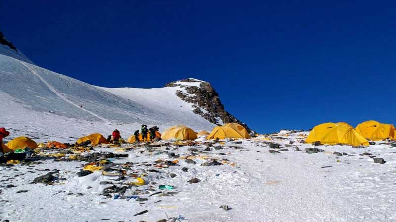 Mount Everest, the world's highest rubbish dump