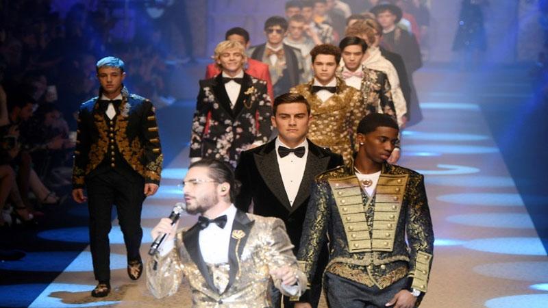 Dolce & Gabbana's royal flush wows Milan Fashion Week