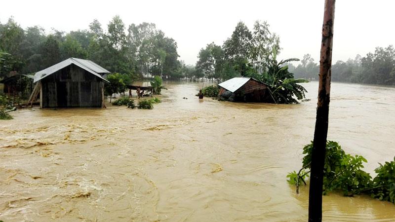 Flood hits many areas in Sylhet