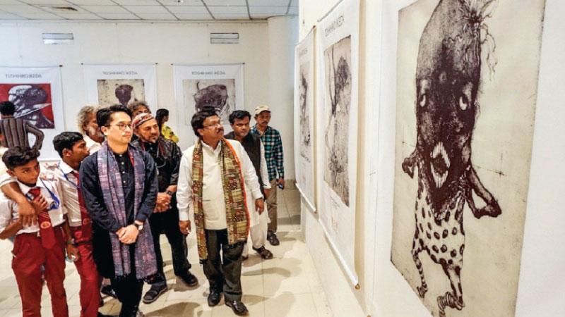 Japanese artist Toshihiko Ikdeda's art show underway at BSA
