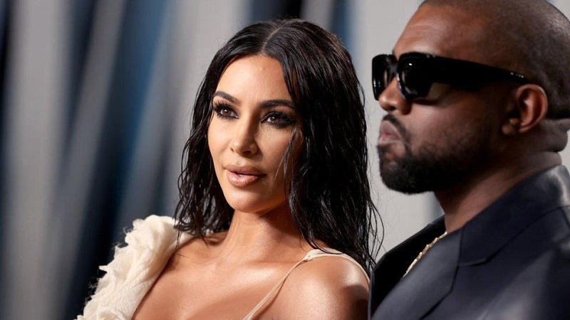 Kardashian wears wedding gown for Kanye West event