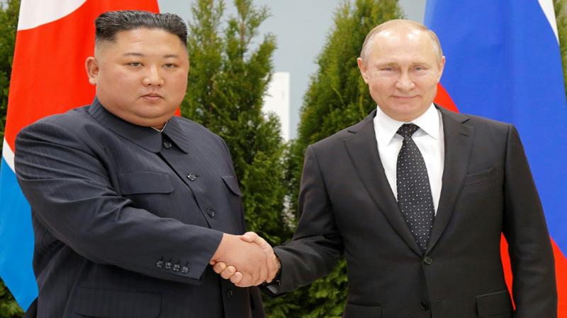 Kim, Putin vow to seek closer ties at first talks