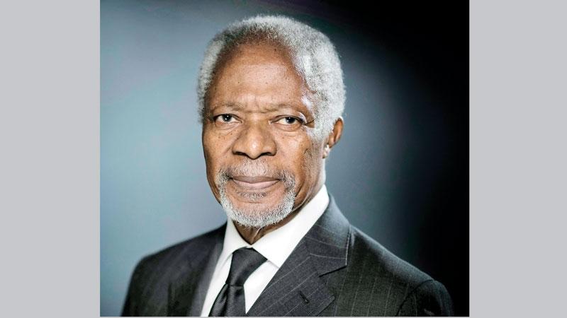 Kofi Annan, a crusader  for human rights
