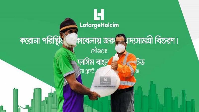 LafargeHolcim distributes food items among 600 families