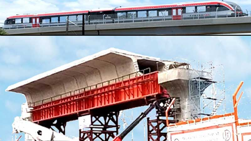 1.5-km viaduct visible of metro rail
