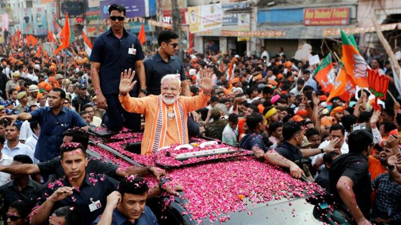 Modi claims victory, vows to build 'inclusive' India