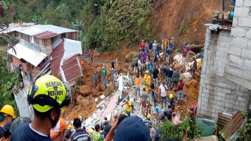 Mudslide kills 12 in central Colombia