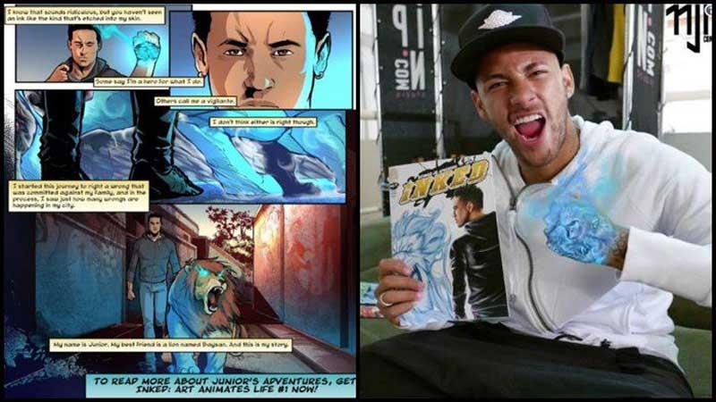 Neymar launches new comic book