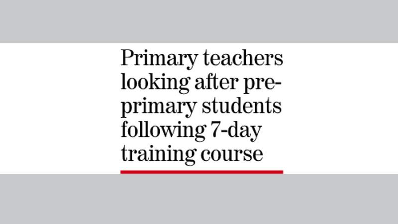 No pre-primary teachers in 26,000 govt schools