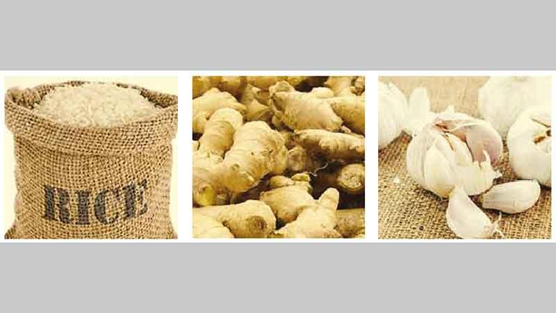 Now, rice, ginger,  garlic prices rising