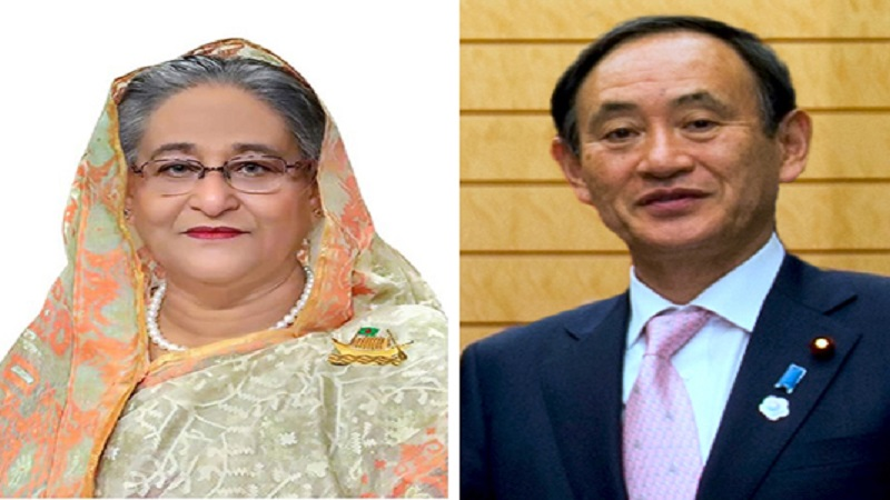 Sheikh Hasina greets new Japanese PM