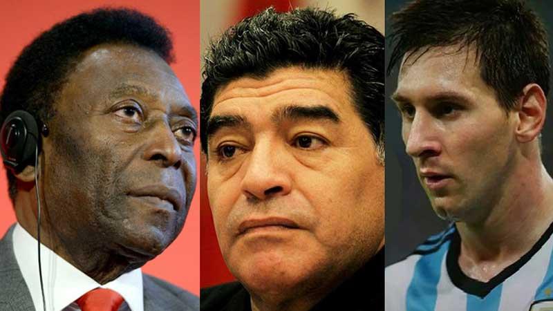 Maradona better than Messi, says Pele