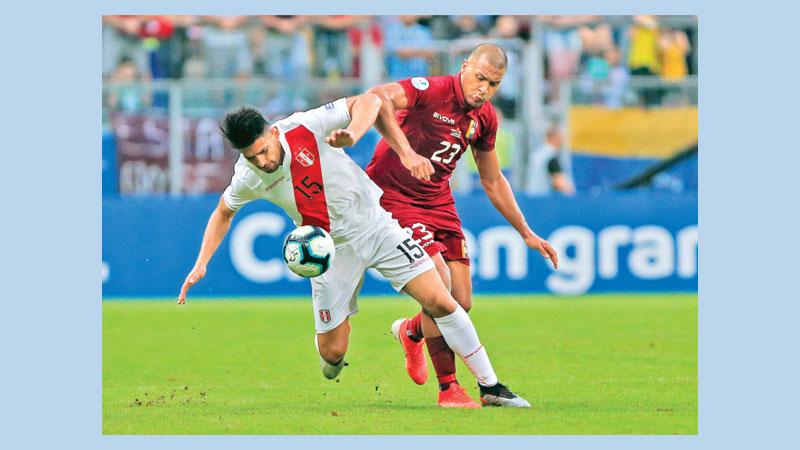 Peru, Venezuela match end in a draw