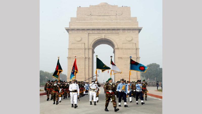 Tri-service Bangladesh contingent leads India's Republic Day Parade