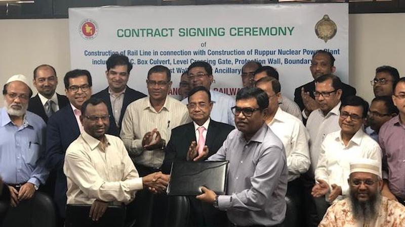 Country's 1st nuke plant getting rail linked with Ishwardi