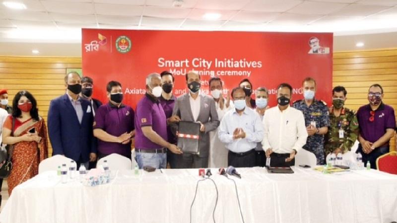 Robi, DNCC sign deal 'to build a smart Dhaka'