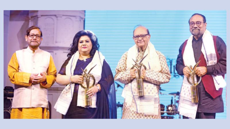 Three iconic figures honoured on same stage