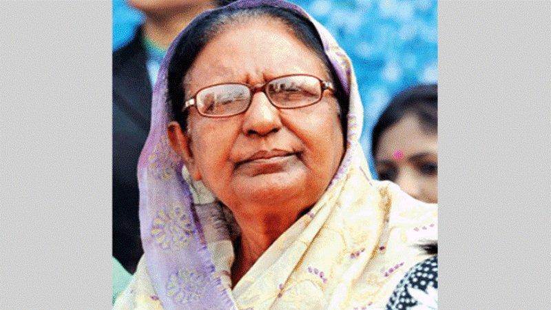 Former home minister Sahara Khatun passes away