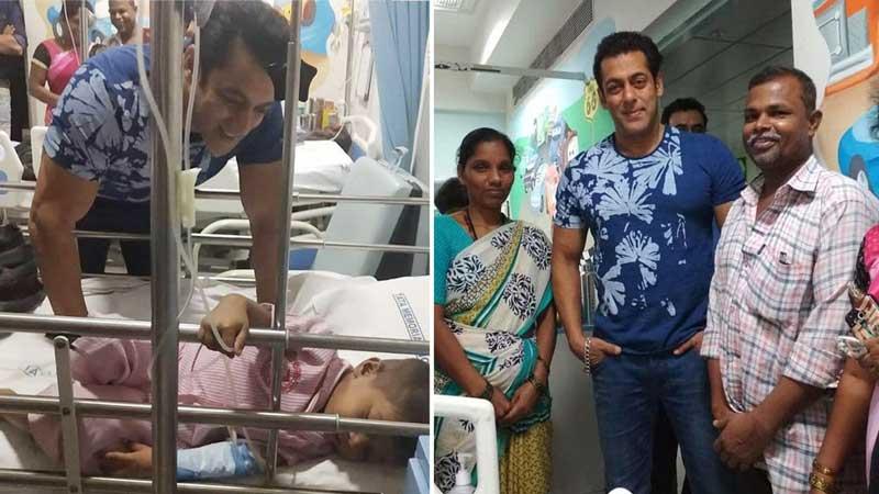 Salman Khan fulfils dream of little boy suffering from cancer