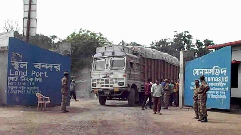 Trade activities at Sonamasjid land port resume