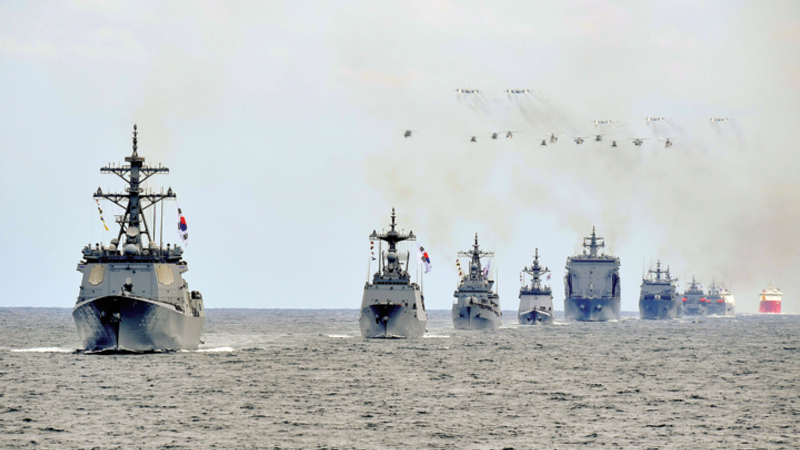 South Korea begins naval event without Japan
