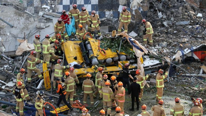 South Korea building collapse kills 9